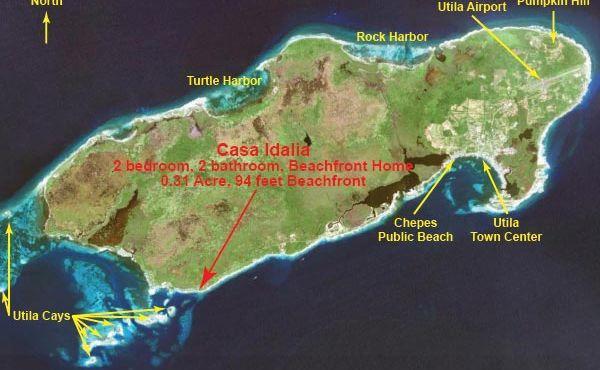 25 Location on Utila