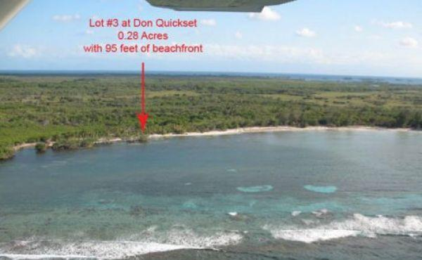 .28 Acre Beachfront Lot at Don Quickset (Lot #3)