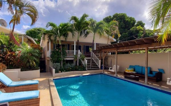 Poolside Home in Town